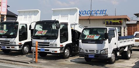 大型トラックまで幅広い取扱い